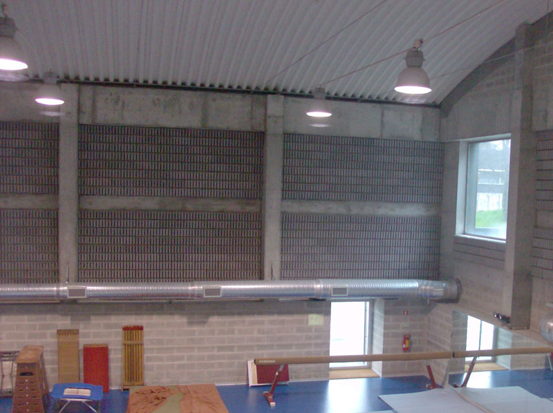 School sports hall - Blocks Soundconfort Previcon
