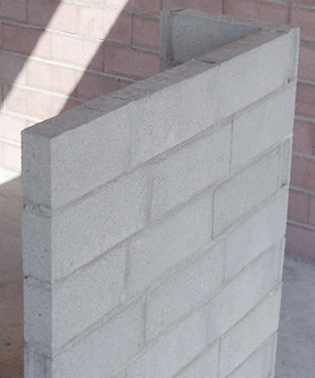 Masonry wall with blocks Lightweight Previcon